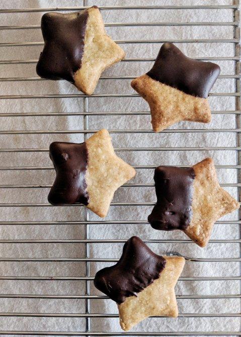 Vanilla Latte Cookies stars